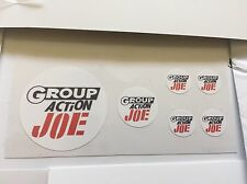 GI Joe Group Action French Decals. Die Cut! Free Shipping