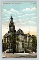 Springfield OH, Court House, Ohio Vintage Postcard Z14
