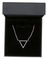 Nadri Womens Gold Triangle Pendant Necklace 0711