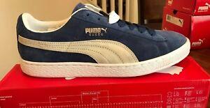 New Puma Suede Classic+ Olympian Blue/White $60