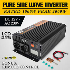 1000W/2000W power Inverter 12V a 220V Onda Sinusoidale Pura Convertitore