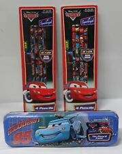 3-SET CARS PENCIL CASE & PENCILS Disney Pixar Lightning McQueen School Supplies