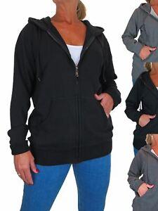 Paulo Due Women's Zip Up Oversized Hoodie With Pockets 12-22