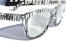 NEW* Oakley Frogskins Matte Clear w Chrome Iridium Urban Sunglass 9013-70