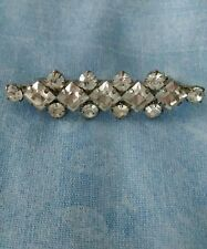 "VINTAGE 80'S Topshop ""Freedom"" Diamanté/Silver Coloured Brooch VGC"