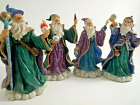 Lot of Four The Wizard Merlin Statue Decorative Collectibles Magician Figurine