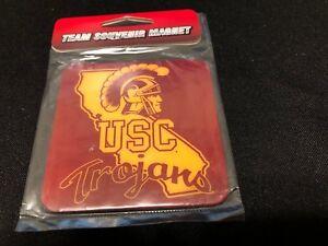 NEW USC TROJANS 3x3 logo text FRIDGE MAGNET - University of Southern California