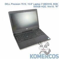 """DELL Precision 7510, 15.6"""" Laptop i7-6820HQ, 8GB, 500GB HDD, Win10, """"R"""""""