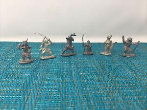 Vtg Lot 6 Ral Partha 1970-80s figures Ninja, Geisha, Samurai  Dungeons & Dragons