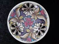 Ceramics Decorative Plate/Wall Plate - Zf Kolo Poland - Hand Painted - Cutwork