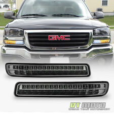 [Smoke Lens] 99-06 GMC Sierra Yukon LED Amber/White Signal Parking Bumper Lights
