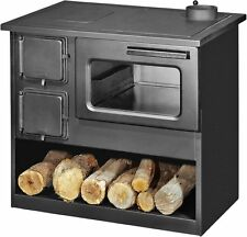 Combustion du bois poêle Cuisinière Brûleur Foyer Grand Four 9 KW deux portes