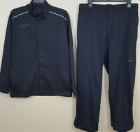 NIKE GOLF STORM-FIT WATERPROOF RAIN SUIT JACKET + PANTS BLACK RARE (SIZE XL 2XL)