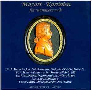 CD  Mozart-Raritäten für Kammermusik, Rheinberger, Danzi, Musica Bavarica