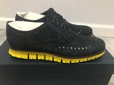 Cole Haan Men ZeroGrand Wing Oxford Shoe India Ink Suede Size 7.5M