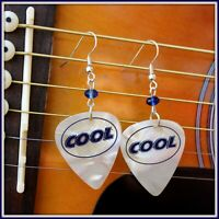 """COOL"" Guitar Pick Earrings"