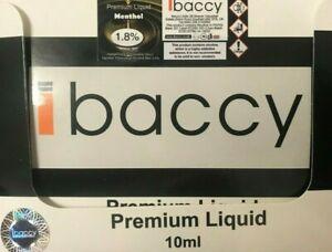 IBACCY VAPE E LIQUID JUICE 10x10ml 50/50VG/PG 6/12/18MG 45 TPD FLAVS NEW GENUINE