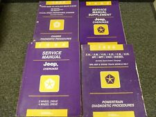 1996 Jeep Cherokee SUV Shop Service Repair Manual Set SE Sport RHD Country 4.0L