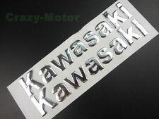 Motorcycles Chrome 3D Tank Fairing Body Emblem Decal Sticker For Kawasaki 14.5CM