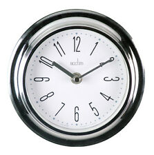 Acctim Riva Wall Clock Chrome lounge hallway office porch bedroom kitchen office