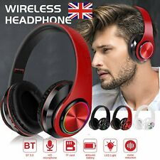 More details for wireless bluetooth headphones noise cancelling over-ear stereo earphones uk