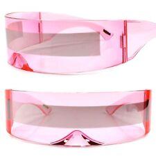 Bionics Alien Space Robot Cyclops Futuristic Costume Pink Novelty Sunglasses