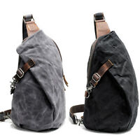 Waxed Canvas Sling Bag One Strap Backpack Rucksack Chest Pack Single Strap
