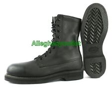 "US Military USAF Addison 9"" JUMP BOOTS FULL LEATHER Black USA MADE NIB 16.5 N"