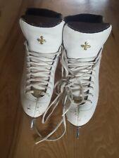 Riedell LS White Figure Ice Skates Ladies Size 5.5