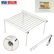 Portable Outdoor Camping Beach Folding Bbq Barbecue Grill Support Stand Us