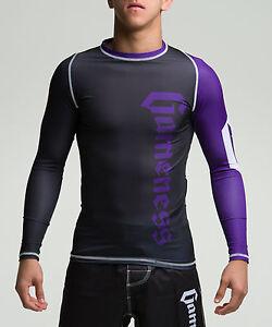 Gameness Purple Long-Sleeve Pro Rank Rash Guard