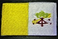 VATICAN CITY Vatican Country Flag Embroidered PATCH Badge *NEW*