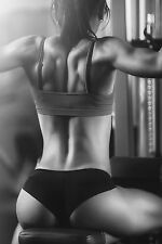 SUPERB SEXY WOMAN GYM FITNESS WEIGHTS CANVAS #524 QUALITY A1 CANVAS PICTURE