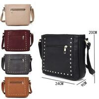 New Womens Designer Style Cross Body Bag Ladies Shoulder Handbag