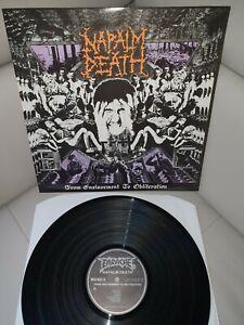 Napalm Death- From Enslavement To...Vinyl LP- Original 1988- UK