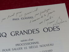 [Bibl. R-JEAN MOULIN ART XXe] PAUL CLAUDEL / illustré par BURAGLIO EO 1990 Signé