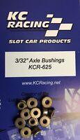 6 Pair 3/32 X 3/16 Flanged Oilite Bushings KCR-625 1/24 Slot Car