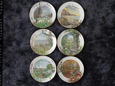 PETER BARRETT 6 ROYAL WORCESTER porcelaine assiette collectionne eller Franklin supprimerait.