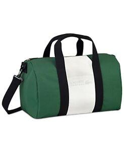 LACOSTE PARFUMS GREEN/WHITE Weekender gym Travel  Beach Duffle Shoulder Bag