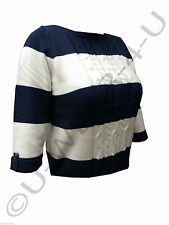 Marks and Spencer Women's Striped Cotton Jumpers & Cardigans