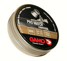 GAMO PRO MATCH competencia 4.5 mm cal.177 500 Piezas. Airgun Pellets Rifle de aire