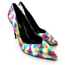S-2129980 New Saint Laurent Multi-colored Metallic Pump Shoes Sz 9.5/marked 39.5