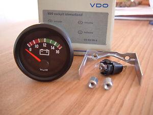 VDO Voltmeter 12V Instrument 52mm Cockpit International Classic VW Golf GTI VR6