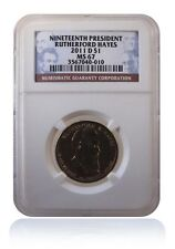 NGC MS67 2011-D Rutherford Hayes Presidential Dollar Coin Gem Uncirculated