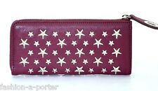 JIMMY CHOO LONDON Nixie Star tachonado de Cuero Billetera Cartera BNWT Caja Regalo Perfecto