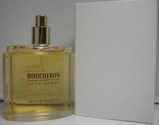 BOUCHERON POUR HOMME 3.3/3.4 OZ EDT (UNBOX NO CAP) FOR MEN WITH BOX