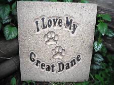 "Great Dane dog mold plaster concrete casting mould 11"" x 10.5"" x 3/4"""