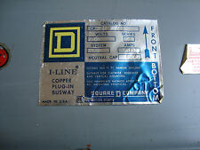 SQUARE D BUSWAY I-LINE  CAT# CP316 SER. 3. COPPER 1600A, 3 PHASE, 3 WIRE, 600VAC