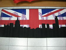 Tappeto antiscivolo Londra London color nero cm 57x180 color beige rosso blu
