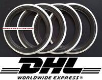 "ATLAS! ''17"" Port a wall Black white wall Tire insert Trim set 4 pcs New Beetle"